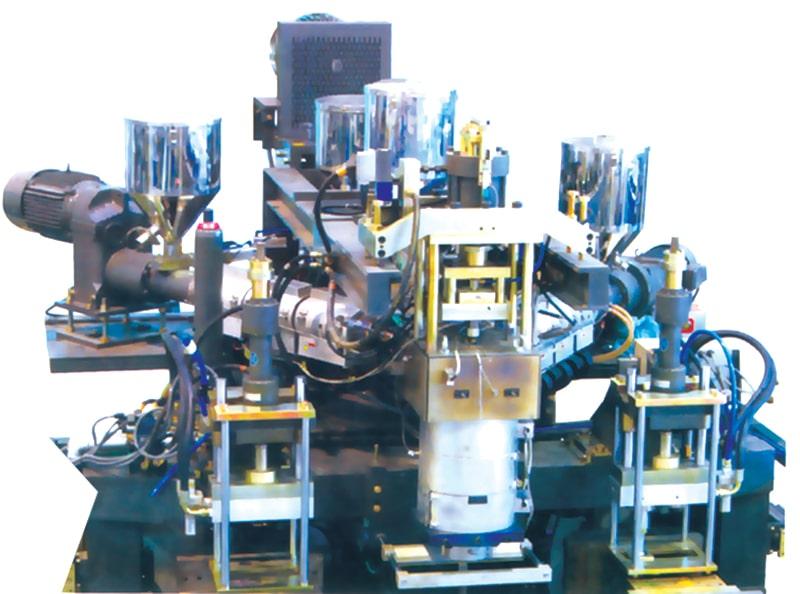 اکسترودر دای دستگاه پلاستیک بادی اکستروژن بلومولدینگ دو استیشن